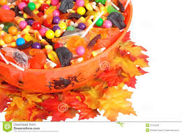 scary halloween candy bowl big bowl of halloween candy stock image image 1164121