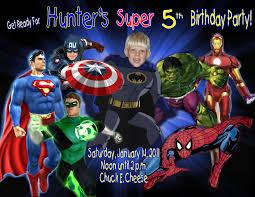 superhero party invitations party invitations templates
