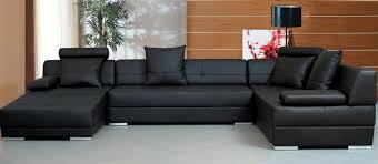 Modern Black Sofas Black Sectional Sofa Set Tos Lf 3334 Lher