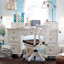 bedroom design wooden desk and bookcase by pottery barn teens for