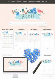social media planner april 2015 productivity kit freebie printables