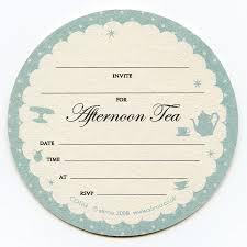 afternoon tea coaster invitations by aliroo notonthehighstreet