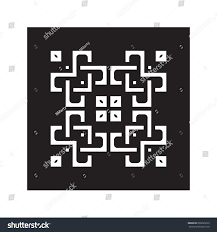 lace patterns square lattice ornaments laser stock vector