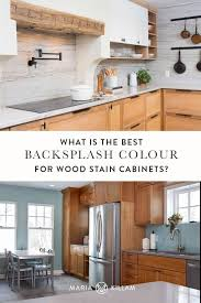 what is the best backsplash for a kitchen best backsplash colour for stained wood cabinets advice