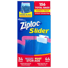 ziploc slider bags variety pack 156 ct sam s club