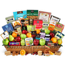 gourmet gift signature series fruit and gourmet gift basket by