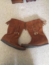 womens moccasin boots size 11 size 11 boots minnetonka for ebay
