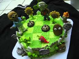 Plants Vs Zombies Cake Decorations Plants Vs Zombies Cake Google Search Birthday Cakes