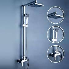 Shower Sets For Bathroom Shop Thermostatic Digital Display Bathroom Rainfall Shower Set At