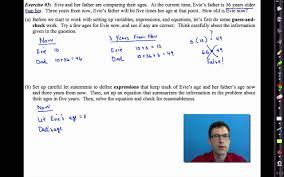 common core algebra i unit 2 lesson 5 linear word problems youtube