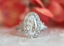 vintage oval engagement rings 5 0 ct tw deco ring engagement ring oval cut simulant