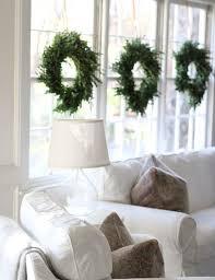 window wreaths 40 cozy christmas living room décor ideas shelterness