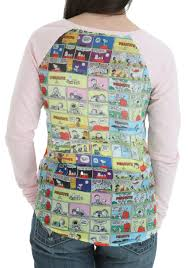 womens peanuts snoopy walking front sublimated back shirt