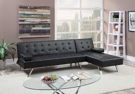 modern black white faux leather adjustable futon sofa bed