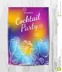 birthday party invitation card cocktail party flyer stock vector