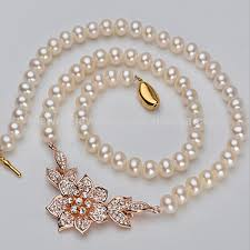 necklace gold pearl images China real pearl pendant necklace gold long chain pearl necklace jpg