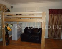 queen size extra tall loft bed with custom made stair case