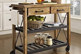 kitchen glamorous kitchen island cart industrial small with two