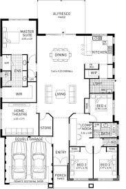 Single Floor Plan by The Newtown Four Bed Single Storey Home Design Plunkett Homes