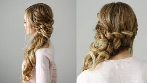 front view of side swept hairstyles side swept dutch braid missy sue youtube