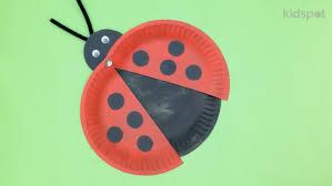 make a paper plate ladybird kidspot