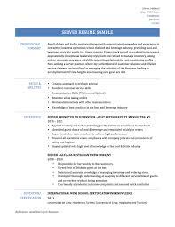Resume Samples Server Position by Resume Server Resume For Your Job Application