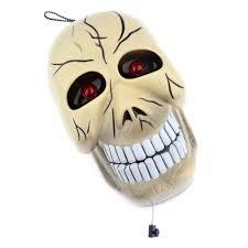 halloween decoration skeleton skull tricky prop sound control
