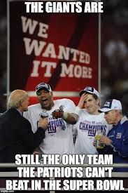 Giants Memes - the giants are still the only team the patriots can t beat in the