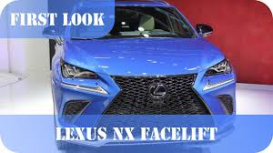 2018 lexus nx 300 facelift 2017 shanghai motor show youtube