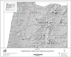 Roseburg Oregon Map Obsidian Source Maps United States