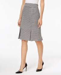 pleated skirt kasper houndstooth pleated skirt women macy s