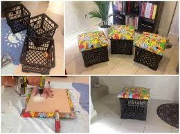 Diy Storage Ottoman Cube Diy Storage Ottoman Ideas From Recycle Crates And Pallets Diy