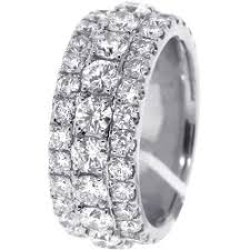 mens diamond wedding rings mens diamond eternity band ring 14k white gold 5 75 ct 10 mm