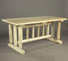 rustic natural cedar harvest family dining table sku 21c u2013 cedar