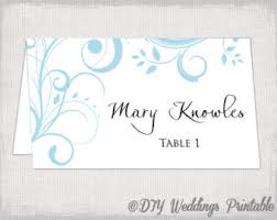 Table Card Template wedding place card template chalkboard place cards