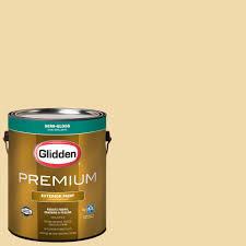 glidden premium 1 gal hdgy06d fairest of gold flat latex