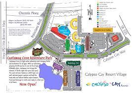 Map Of Kissimmee Calypso Cay Resorts Map Calypso Cay Resort