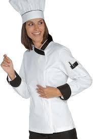 chef cuisine femme veste chef femme snaps blanc noir 100 coton