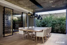 lighting dining table wine room luxurious interior pearl
