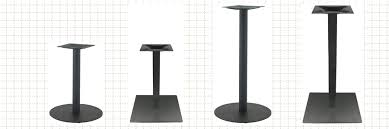 bar height table base with foot ring hon single column bar height hospitality table base with foot ring