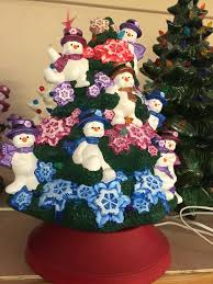 ready to paint ceramic bisque snowman tree