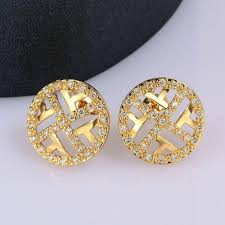 earrings brand online cheap brand design charm trendy vintage gold earrings
