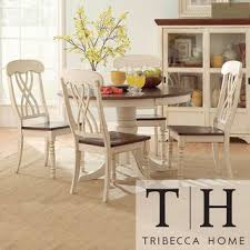 Best  White Dining Set Ideas On Pinterest White Kitchen Table - Tribecca home mckay country antique white pedestal extending dining table