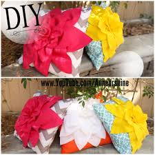 colorful sofa pillows diy flower throw pillow just in time for summer u2013 ann le style