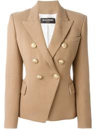 balmain leather jacket price beige cotton classic blazer from