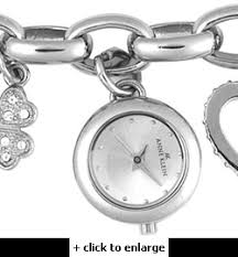 anne klein charm bracelet watches images Anne klein silver charm bracelet w watch piece
