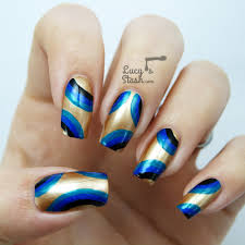 abstract retro nail art with jacava london polishes lucy u0027s stash