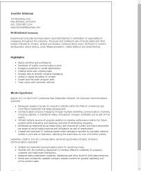 communications specialist sample resume professional