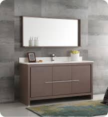 fresca allier 36 quot wenge brown modern bathroom vanity w fresca fvn8119go s allier 60 gray oak modern single sink bathroom