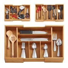 rangement ustensiles cuisine boîte de rangement en bambou cuisine accessoires organisateur eco